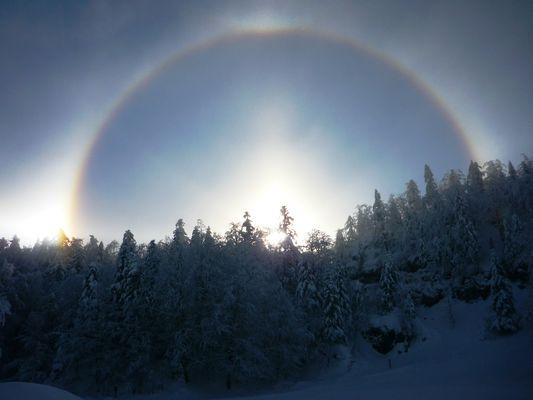 Entrée de l'espace nordique - Arc en ciel