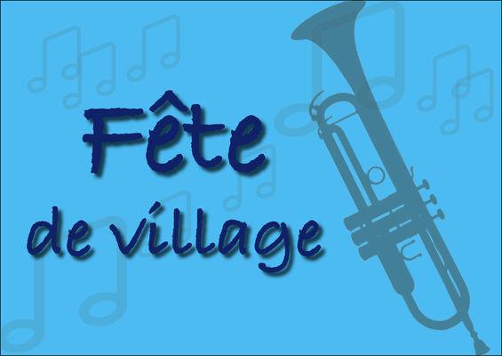 Fête de village bleu