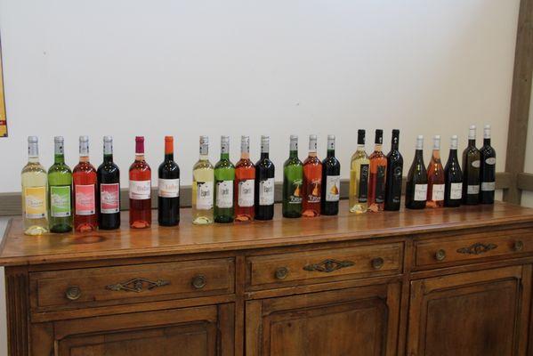 Gammes de vin des Vignerons Landais
