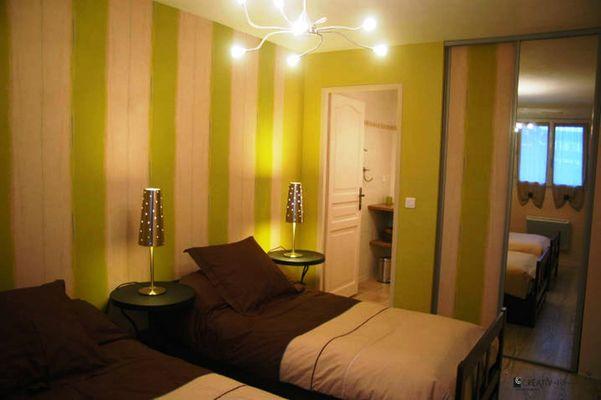 Le Labrit - Chambre lits simples