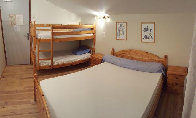 Refuge Jeandel - Chambre avec lit superposé