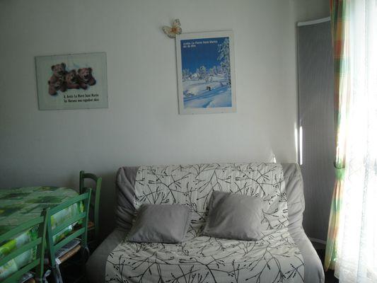 Studio Palac - Convertible BZ dans séjour