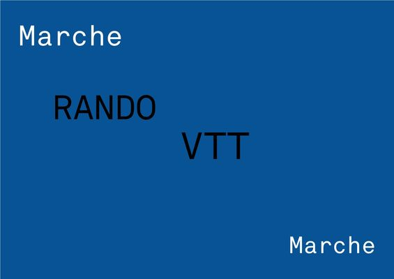 Visuel VTT et marche