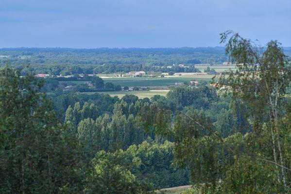Morlanne, vue sur la vallée de l'Adour