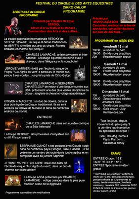Programme Cirko Galop 2014