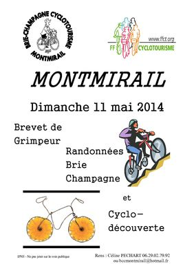 Brevet Grimpeur Montmirail 2014