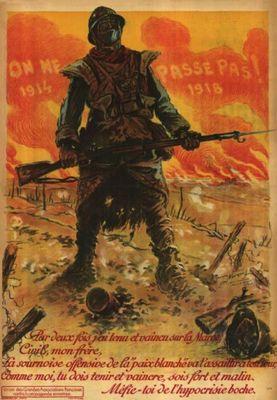 On ne passe pas ! 1914-1918, affiche signée Maurice Neumont, 1918