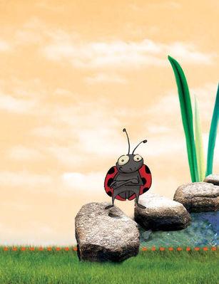 La coccinelle, symbole de la culture biologique.