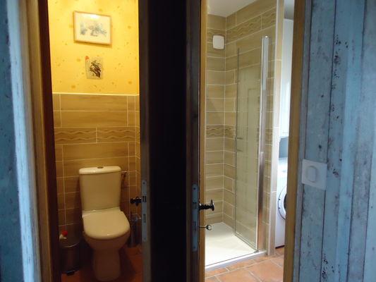 Gite Petit paysan - salle de bain / douche et wc à part
