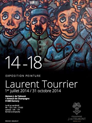 Expositon 14-18 / Champagne J. de Telmont / Laurent Tourrier