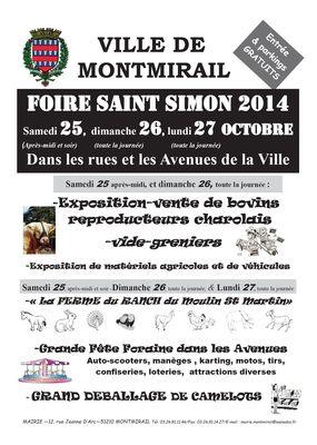 Affiche Foire Montmirail 2014