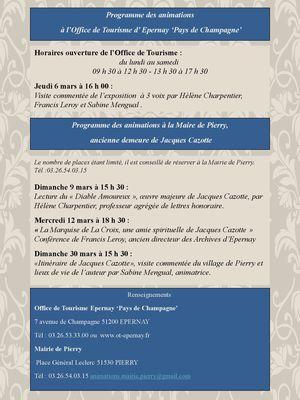 Jacques cazotte programme