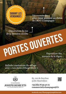 Sept - Vendanges Champagne J. DESRUETS - HAUTVILLERS