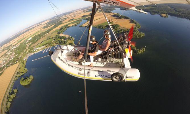 hydro-ULM sur le Lac Amance