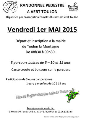 Randonnée pédestre - Fête du muguet - Vert Toulon