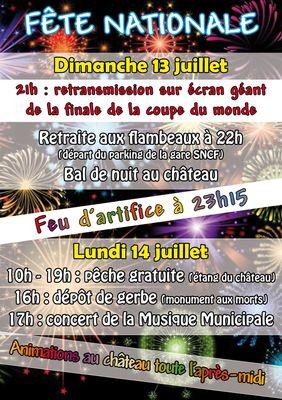 affiche fête nationale 2014