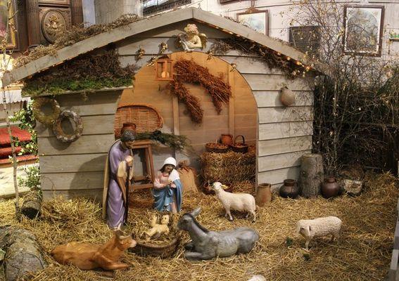 Crèche dans la Chapelle du Couvent des Récollets à Sézanne
