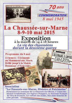 Affiche exposition La Chaussée sur Marne