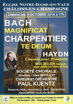Affiche concert pour trompette