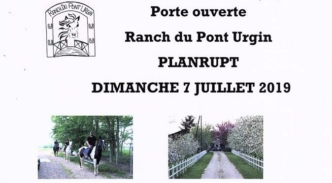 Porte ouverte ranch Pont Urgin
