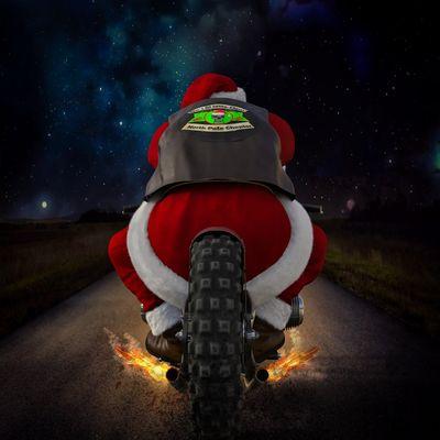 Père Noël à moto