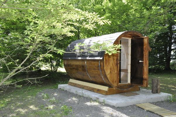 La Cabane aux Secrets sauna insolite tonneau