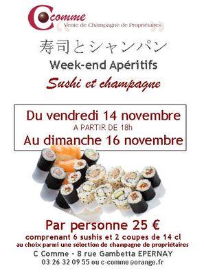 WE sushi au C Comme