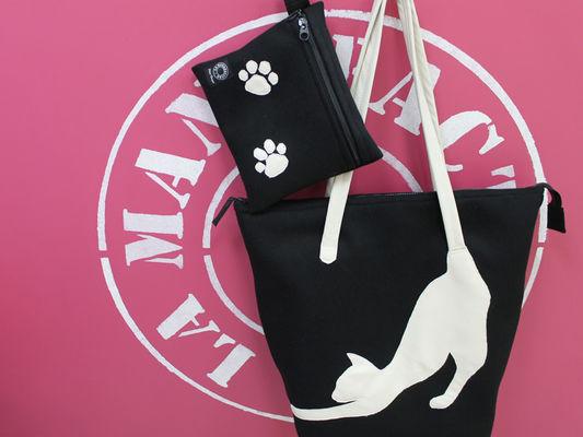 AICO sac et pochette cats