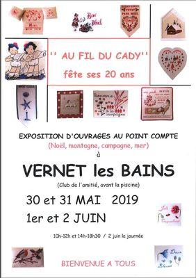 Expo au fil du Cady Vernet