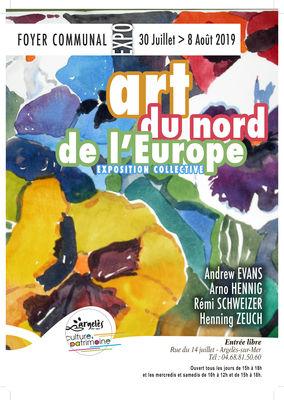 Exposition collective ART DU NORD DE L'EUROPE - Foyer Communal