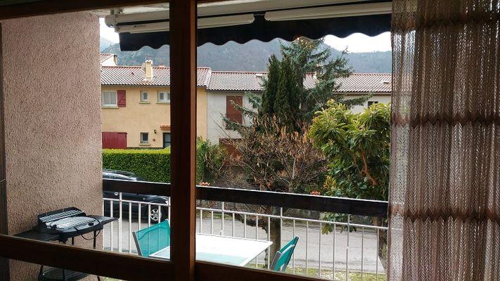 La Pena, vue sur la terrasse
