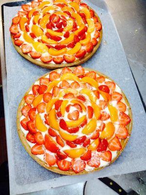 Tarte fraises abricots Hôtel Restaurant Princess Vernet les Bains