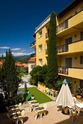 Vue terrasse Hôtel Princess Vernet les Bains t