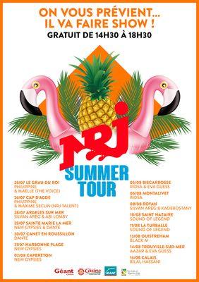 affiche NRJ summer tour