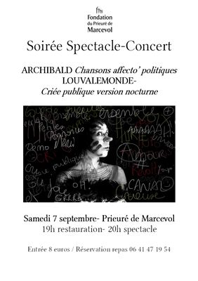 affiche concert spectacle
