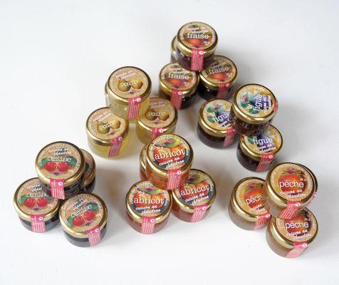 Présentation de mini-pot de confiture