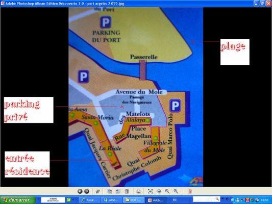 14 Plan résidence parking et plage