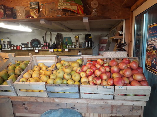 Étal de pommes