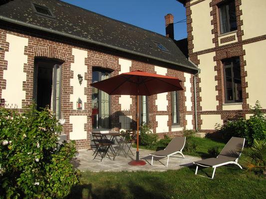 Ouville - La Ville Argonne - Gîte Veules-les-Roses - Terrasse