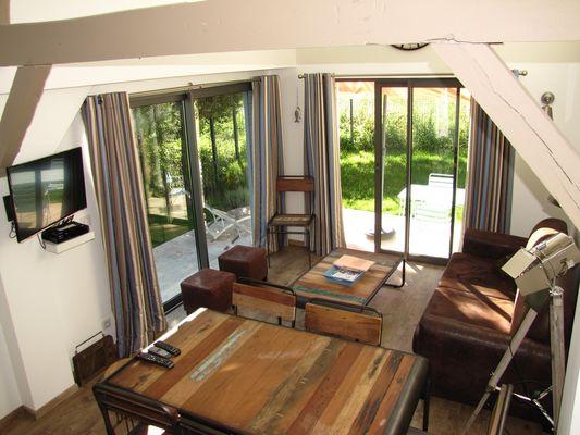 Ouville - Villa Argonne gîte DIEPPE salon salle vintage