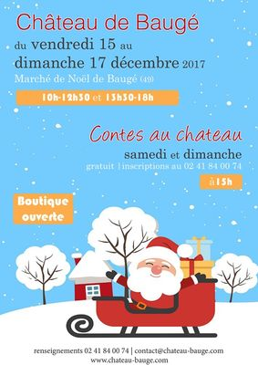 Marché Noël château de Baugé