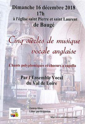 Chorale 5 siècles de musique vocale anglaise