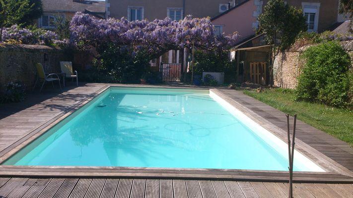 la piscine chauffée