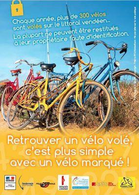 Opération marquage de vélo