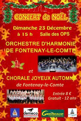 Affiche Concert de Noël 2018