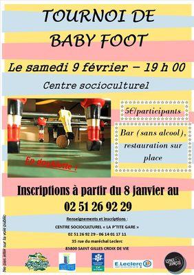 Affiche Baby foot-centre socioculturel