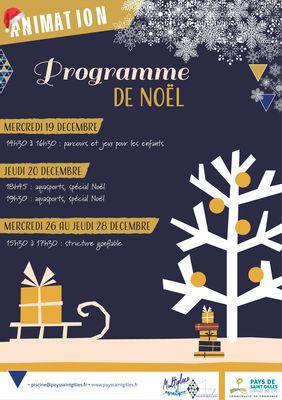 Affiche programme noel multiplexe 2018