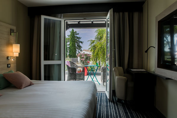 CHAMBRE TERRASSE HOTEL SPA MARAIS POITEVIN