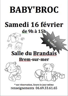 Baby Broc Brocante Brem Sur Mer Office De Tourisme Du Pays De