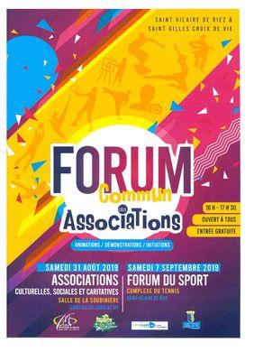 Forum commun associations St Gilles - St Hilaire